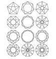 set geometric shapes sacred geometry lines vector image