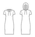 set hoody dresses technical fashion vector image vector image