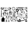 set objects vector image