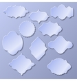 Set of paper frames with shadow vector image vector image