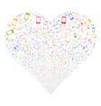 smartphone fireworks heart vector image vector image