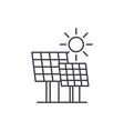 solar power line icon concept solar power vector image vector image
