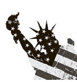 statue of liberty symbol of new york city vector image vector image