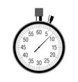 stopwatch on white vector image