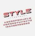 style trendy retro display font design vector image vector image