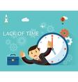 Time management Lack of time concept Businessman vector image
