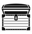 treasure chest icon simple style vector image