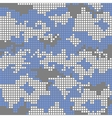 Urban camo pattern - blue pixels vector image vector image