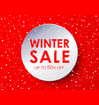 winter sale design circle in paper style vector image