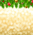 Xmas Fir Tree Border vector image