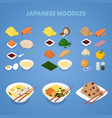 japanese noodles asian thai chinese food vector image