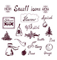 Snuff and tabacco icons set vector image