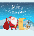 merry christmas background with funny vector image
