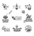 Olives label set vector image