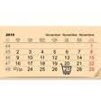 27 November 2015 Black Friday Sale Calendar vector image vector image