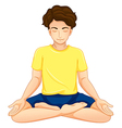 a guy performing yoga vector image