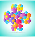 abstract colorful four leaf vector image