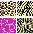 animal print pattern vector image vector image
