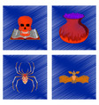 assembly flat shading style icon halloween danger vector image vector image