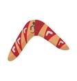 Australian boomerang icon cartoon style vector image vector image
