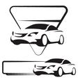 Auto silhouette vector image