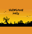 background for halloween party silhouette style vector image vector image