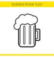 beer mug linear icon