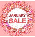Big winter sale poster with JANUARY SALE text vector image vector image
