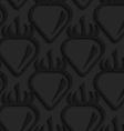 Black textured plastic strawberries vector image vector image