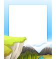 Border design with mountains view vector image vector image