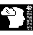 Brainstorming Icon with Tools Bonus vector image vector image