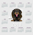 calendar 2018 year design template in vector image vector image