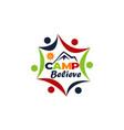 camp believe logo design template vector image