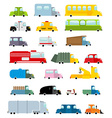 Car set cartoon style Big transport icons vector image vector image