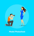 cartoon professional photographer and fashion vector image