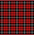 christmas new year tartan pattern scottish cage vector image