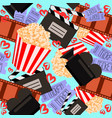 cinema and movie colorful seamless pattern for vector image