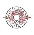 circular maze vector image