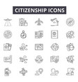 citizenship line icons for web and mobile design vector image vector image