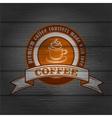 Coffee logo emblem retro design template vector image vector image