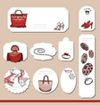 collection with different paper labels for vector image vector image