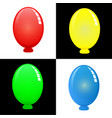 Colorful oval balloons with shadows