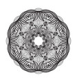 crazy mandala template for coloring book vector image vector image