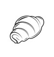 croissant isolated on white background vector image