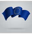 European Union waving Flag vector image