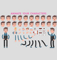 flat guy character for your scenes vector image