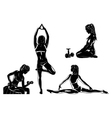 Four sports women silhouettes vector image vector image
