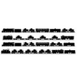 four vintage military trains vector image vector image