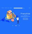 franchise website landing page design vector image
