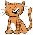 funny comic cat or kitten cartoon animal character vector image vector image